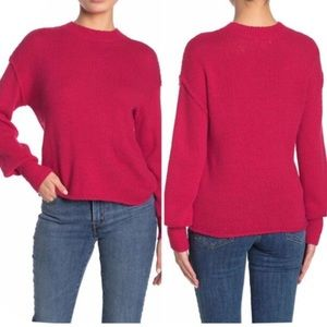 Abound Drop Shoulder Knit Sweater Red Potion